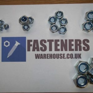 NYLON STAINLESS STEEL LOCKING NUTS A2 DIN 985