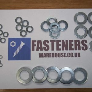 WASHERS STAINLESS STEEL FORM A METRIC