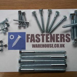 M8 COACH SCREWS BOLTS A2 STAINLESS STEEL HEX HEAD ST/ST TIMBER SCREW