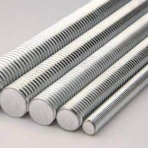 5 X STUDDING / THREADED BAR ROD 1000MM 1 METER BZP ALL THREAD