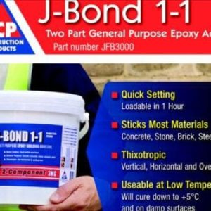 3KG J-BOND MULTI-PURPOSE EPOXY BUILDING ADHESIVE CONCRETE, STONE, BRICK, STEEL