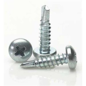 No. 6 Self Drill Recessed Pan Screws For Steel Applications DIN7504 BZP
