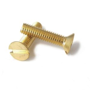 M3 Brass Countersunk Slotted